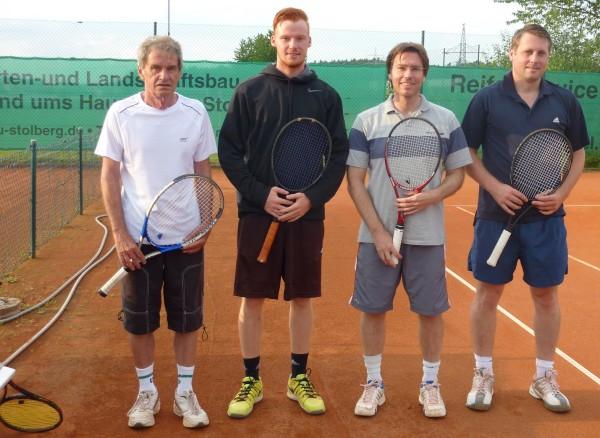 """von links: Heinz """"Cäs"""" Orlowski, Nikolai Macheu, Robert Helmreich und Rainer Pöhmerer"""