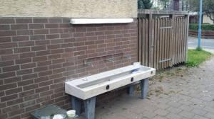 TSV Winkelhaid Fußball-Abteilung Licht beim Wassebecken