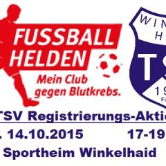 Registrierungsaktion der Fußballabteilung