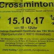 Einladung: Crossminton zum Schnuppern